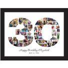 Read the full title 30. Geburtstag Fotocollage, 30. Geburtstagsgeschenk, 30. Jahrestag Geschenk für Eltern, 30. Hochzeitsgeschenk für Eltern, Zahlen Foto Collage Geschenk