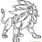 Solgaleo Pokemon Sun and Moon Coloring Page for Kids - Free Pokemon Sun and Moon Printable Coloring Pages Online for Kids - ColoringPages101.com | Coloring Pages for Kids