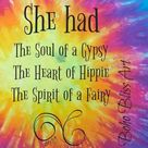 She Had the Soul of a Gypsy the Heart of a Hippie & the Spirit of a Fairy | Strong Women Art Printable | Instant Download