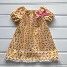 Toddler Girl Summer Dress, Toddler Summer Dress, Yellow Floral Dress, Girl Summer Outfit, Toddler Girl Summer Clothes 18 months