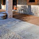 Steinplatten für Terrasseverlegen   Terrassenplatten
