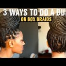 Bun on box braids//How to do a bun on box braids// QUICK & EASY 2021