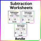 Subtraction Worksheets Mega Bundle