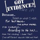 Evidence Anchor Chart