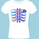 Human Chest Bones Design . A.F 0123_018 By Ant Fashion For Sale Design.