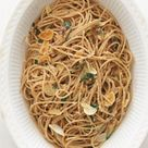 My Now Eat This version of Spaghetti Aglio Olio only has 281 calories and 10.5 grams of fat per serving.
