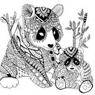 Zentangle - Free printable Coloring pages for kids