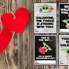 Free Printable Baby Yoda Valentine Cards