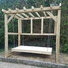 Swinging Pergola Bed Swing Bench Bespoke Sizes Available   | eBay