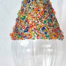 3 Multi-coloured Beaded Clear Glass Hanging Finial Decorations For Her Valentine's Day Christmas Tree Wedding Gift Holiday Anniversary