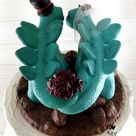 Stegosaurus Wedding Cake Topper - Realistic Dino Bride and Groom - Dinosaur Wedding Cake Topper