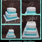 Turquoise Wedding Cakes