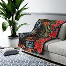 Godzilla Japanese Poster Velveteen Plush Blanket Throw Rug   Etsy
