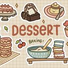 Dessert Stickers Pack   Food Stickers Pack