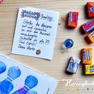 Familie Honigkukuks selbstgemachtes Bowling-Kindergeburtstag Mitgebsel