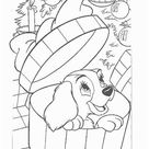 Kids n Fun   Coloring page Lady and the Tramp Lady and the Tramp