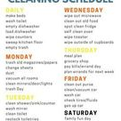 Weekly Home Cleaning Schedule   Etsy