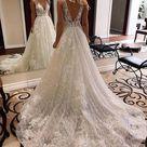 Sparkling Wedding Dress V Back, Bridal Gown ,Dresses For Brides