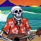 Surf Art 8x10 Print Ukulele Day of the Dead Musician   Etsy