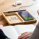 Desk Tidy Wireless Charger   Has The Power   Phone Wireless Charging Pad   Wireless Charging Station   Desk Tidy With Phone Holder   LC706