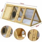 Garden Mile Outdoor Rabbit Hutch and Run Wooden Pet House for sale online | eBay