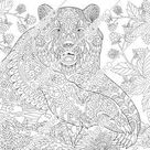 Coloring pages for adults. Digital coloring page. Panda Bear   Etsy