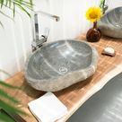 Naturstein-Waschbecken aus Flussstein für das Bad kaufen | Wohnfreuden
