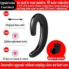 The integrated bone conduction type hanging ears monaural bluetooth wireless headset, wireless headset with warehouse - Black