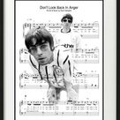Beautiful Oasis Noel and Liam Gallagher - Black and White Digital Print