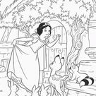 Snow White and the Seven Dwarfs coloring pages printable games #2