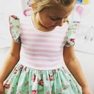 Avery mint floral dress toddler  outfits girls summer | Etsy
