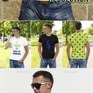 Male T-Shirt in City Mockups for $9 - GraphicRiver #mockup #psd #template #TshirtMockup #BestDesignResources