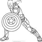 8 Captain America Coloring Book