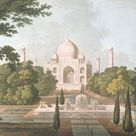 A1 Poster. The Taj Mahal, Agra, from the Garden, published 1801 (colour litho)