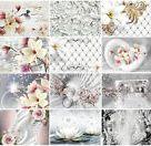 Blumen VLIES FOTOTAPETE 3D Optik Lilien Abstrakt TAPETE WANDBILD XXL Wohnzimmer    eBay