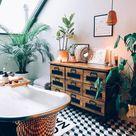 25 Erstaunliche Ideen für tropische Deko im Bad   Fresh Ideen für das Interieur, Dekoration und Landschaft bohodekorationwohnung