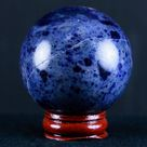 XL 51MM Natural Blue Polished Sodalite Crystal Sphere Ball Orb Mineral Healing Stand