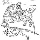 Deinonychus Cretaceous Period Dino Coloring Page
