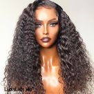 Loose Curly hair wigs frontal 13x4 lace wigs prelucked hair human hair wig 13x6 front lace bleached knots glueless wig for women baby hair