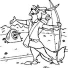Robin Hood The Sharp Shooter Coloring Pages