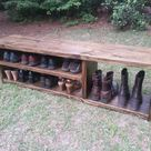 Wooden Bench For Shoes And Boots