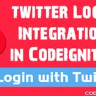 Login with Twitter in CodeIgniter - CodexWorld