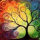 Swirl Color Tree
