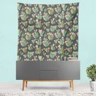 Prickly Pattern Tapestry - 88 x 104 / Without Grommets