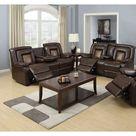 Ebern Designs Alishya 2 Piece Faux Leather Reclining Living Room Set Brown 40.75 x 79.0 x 37.5 in | Wayfair Canada