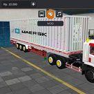 Truck Giga Trailer Kontainer MAERSK