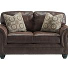 Valley 2 Seater Faux Leather Sofa with Nailhead Trim