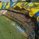Football fans in Argentina show support with massive banner