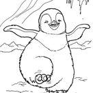 Pinguin Kleurplaat