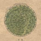 Celestial Chart Stars Southern Hemisphere Constellations Print | Etsy